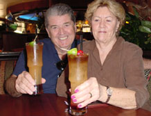 Al and Sharon toasting disappointing Mai Thais