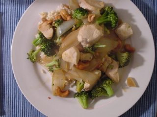 Tery's Chicken Broccoli Cashews Onions Garlic